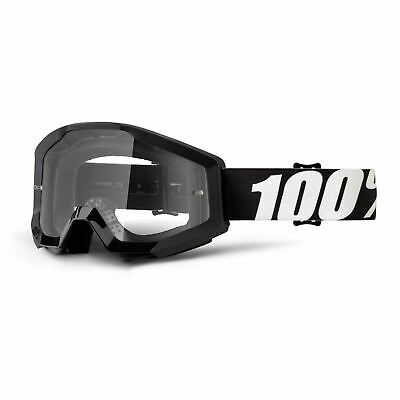 100% Strata Goggles Outlaw / Clear Lens Motocross MX Off-Road Enduro MTB