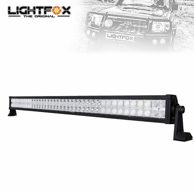 LIGHTFOX 42Inch Led Light Bar Cree Spot Flood Combo Driving Lamp Offroad Suv