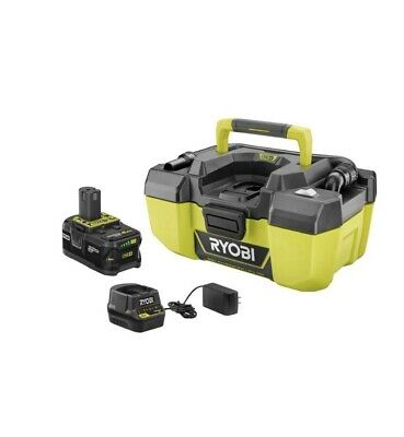 RYOBI 18-Volt ONE+ Cordless 3 Gal. Project Wet/Dry Vacuum, 4.0 Ah Battery