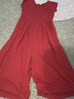 Pretty Red Lightweight Jumpsuit Play suit Girls Age 4 Years Dress From Next