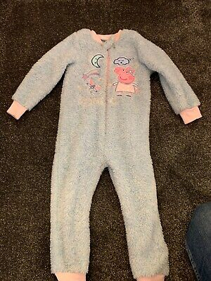 Girls Peppa Pig Fleece Bed Suit 4 Years