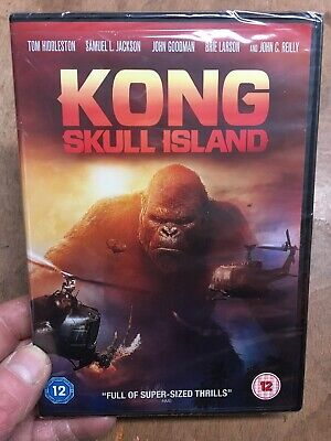 Kong Skull Island-Tom Hiddleston Brie Larson Samuel L Jackson(R2 DVD)New+Sealed