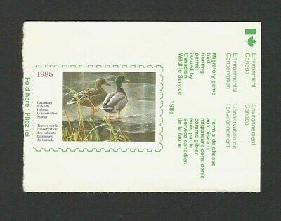 1985 Canada Wildlife Conservation Duck Stamp Sc# FWH1 Used on Piece FREE SHIP