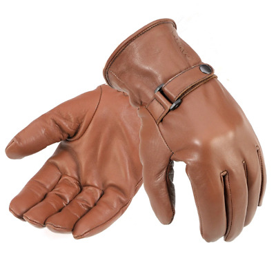 Davida Unisex Brown Leather Shorty Gloves 450203 3Xl
