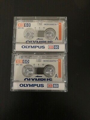 Olympus XB-60 60 Minutes MICRO Cassette Tape for Voice Recorders Dictaphone X2