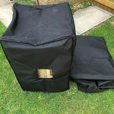 speaker covers large 530cm square 81cm high padded (used)