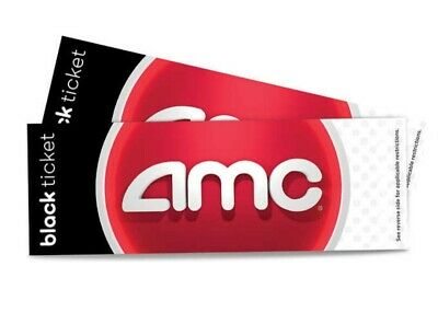 Two (2) AMC Black Movie Theater e- tickets and Two(2) large popcorns