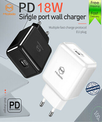Mcdodo 18W PD 3.0 USB-C Fast Wall Charger Power Adapter for iPhone Samsung iPad