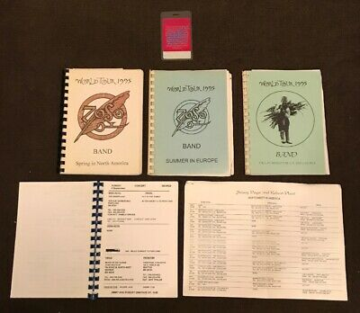 Led Zeppelin Jimmy Page & Robert Plant World Tour Band Itineraries & VIP Pass!