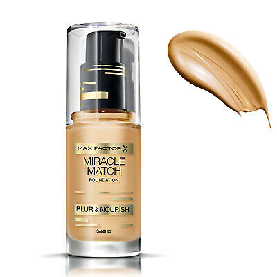 Fondotinta Miracle Match Max Factor Foundation 30Ml Colore Sabbia 60 O Beige 55