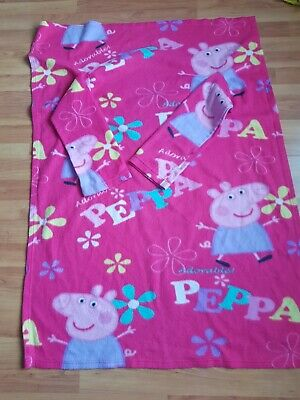 Little Girls Peppa Pig Fleece With Arms