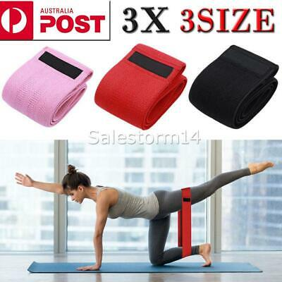 3PCS Resistance Bands Set for Exercise Women Legs Arms Booty Yoga Physio AUS