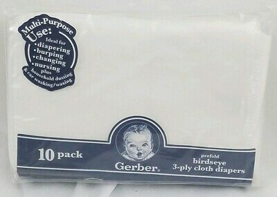 Gerber prefold 3 ply Cloth diapers New in package Discontinued by manufacturer