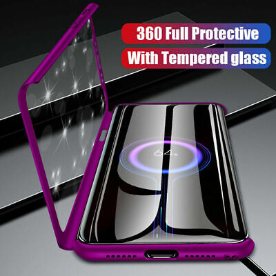 Case for iPhone 11 Pro Max 360 Shockproof Full Hard Cover Glass Screen Protector
