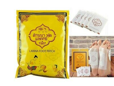 LANNA FOOT PATCH Original Thai Herb Nature Detox Organic Tradition Treatment Spa