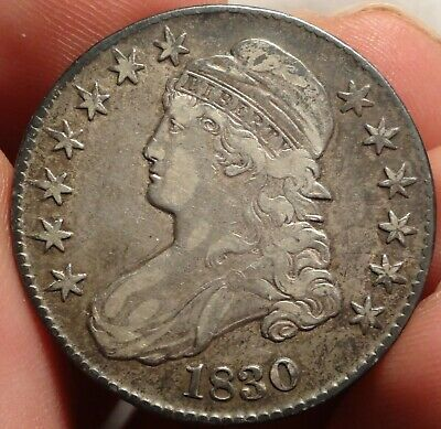 1830 Capped Bust Half Dollar Extremely Fine Small 0 Variety 50c Type Coin