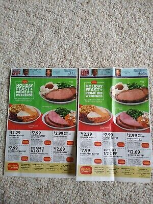 2 Sheets Of Golden Corral Coupons, Exp 12.29.19