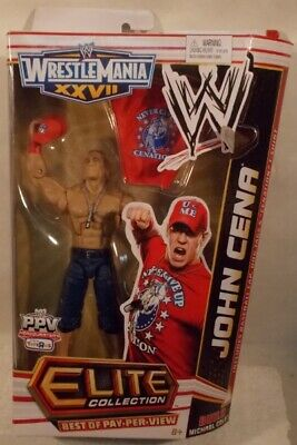 Wwe Mattel Elite Tru Wrestlemania John Cena New Moc Unopened