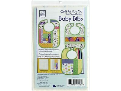 June Tailor Jnt1445  Kit Quilt As Go Ctn Poly Baby Bibs