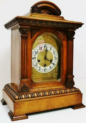 Antique Junghans Architectural Westminster Chime Musical 8 Day Bracket Clock