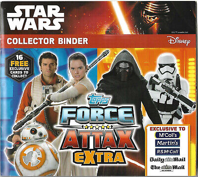 Star Wars Force Attax-Extra 16 EXCLUSIVE Promo Cards & Binder EXCLUSIVE McCOLL