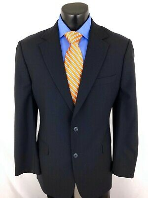Brooks Brothers 346 Stretch Suit Jacket Sport Coat Mens Blue Navy 40 R 40R A6
