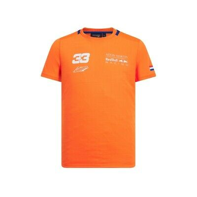 NEW 2019 Aston Martin RED BULL Racing F1 Max Verstappen #33 T Shirt ORANGE