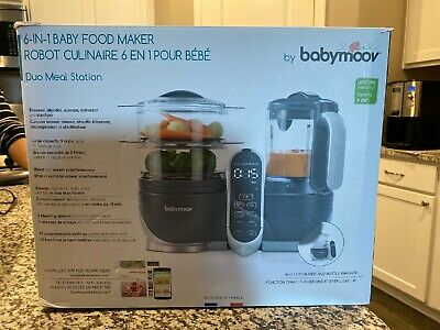 6-in-1 Baby Food Maker By Babymoov Duo Meal Station MSRP $159.99 NIB