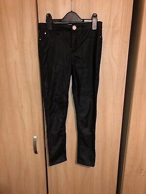 Girls River Island Age 9 Leather Look Trousers