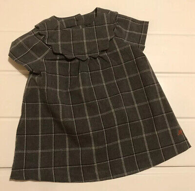 Baby Girls Age 3-6 Months Dress MK Mothercare Grey Check Fully Lined Button Back