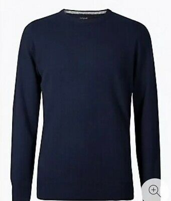 Mens Marks &  Spencer  pure cashmere jumper size S Crew Neck   Teal Mix new
