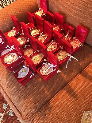 Lot 42 Pieces Waterford Crystal set 12 Days of Christmas Ornaments 1st Edition