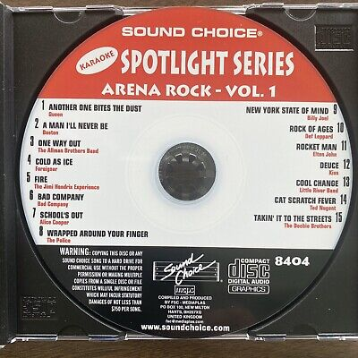 Sound Choice Karaoke Sc8404 Arena Rock - Appears Not Used.