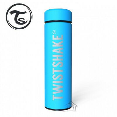 NEW Twistshake Hot or Cold Insulated Bottle 420ml Turquoise Stainless Steel