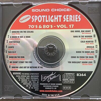 Sound Choice Karaoke SC8264 70's and 80's -Tested Good