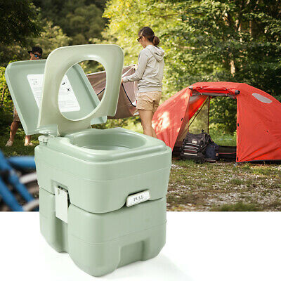 Portable Toilet Flush Commode Outdoor/Indoor Camping Commode Potty 20L 5 Gallon