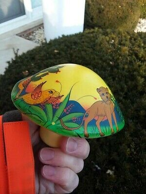 Mexican paper mache mushroom; hand painted and signed.