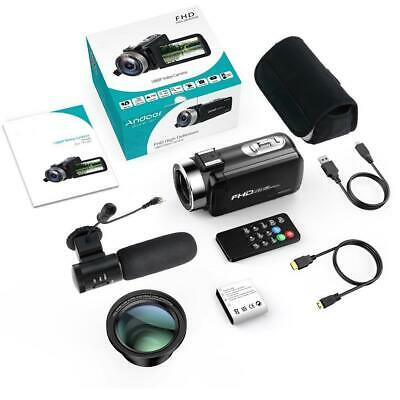 "1080P HD 24MP 3"" LCD 16X ZOOM Night Vision Digital DV Camera Camcorder dt"