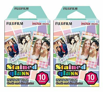 20 Sheets Fujifilm Fuji Instax Stained Glass Photo Paper For Mini 8 7 9 50s 7s