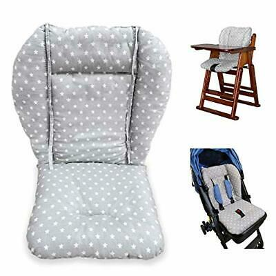 High Chair Cushion Pad Baby Stroller Liner Mat Cover Protector Breathable Gray