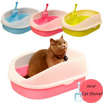 Cat Toilet Litter Box Pet Dog Toilet Tray House Sandbox Cat Supply Portable