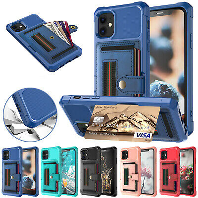 For iPhone 11 Pro Max XS XR 7 8 Plus Case Shockproof Leather Wallet Stand Cover