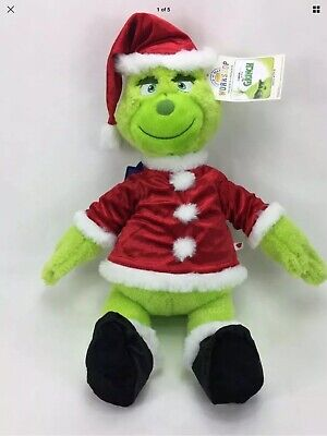 """NEW W/Tags Official BUILD-A-BEAR Grinch 19"""" Santa Suit - SOLD OUT (No 6-1 Sound)"""