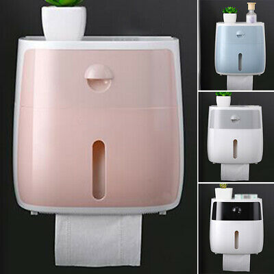 Toilet Papers Roll Holder Tissue Drawer Tray Bathroom Dispenser Wall Mounted