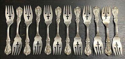 Francis I (12) Salad Forks Reed & Barton Sterling Silver  F Mono 446 Grams