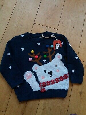 Girls Next Christmas Jumper Age 12-18 Mths - New