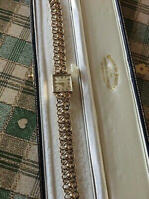 Genuine Ladies Solid 9ct Gold Jaeger le Coultre Watch