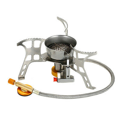 AYADA Gas Camping Stove Windproof with Piezo Ignition Folding Mini Camping Stov