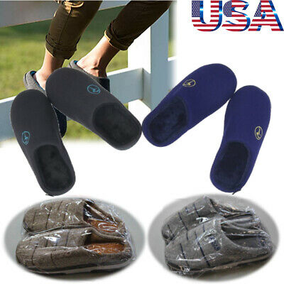 Men's Winter Warm Memory Foam Bedroom Slippers Indoor Plush Lined House Shoes US