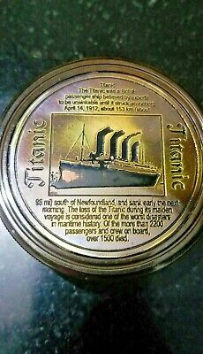 Lot Of 50 Marine Antique  Finish Brass Titanic Compass Nautical Collectible Gift